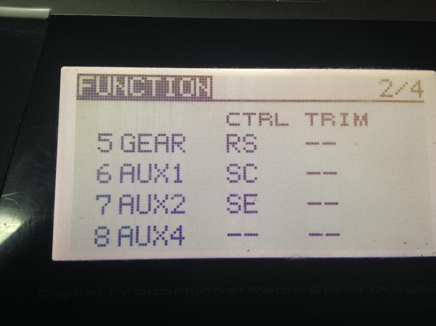 之后进到LNk的这个菜单调5-7通道为图中所示,6ch是只能IOC7通道是切换姿态和GPS模式 ...