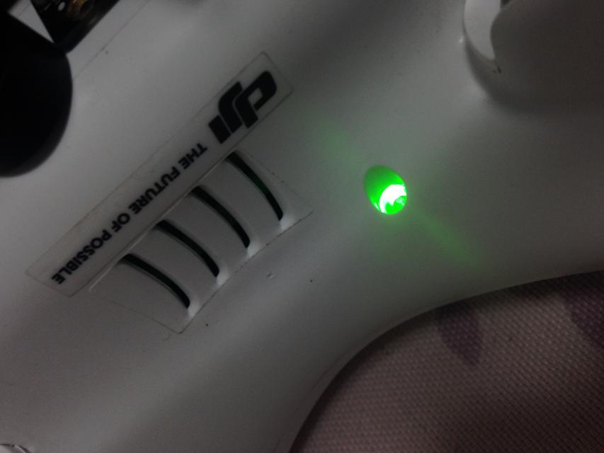 对频成功,接收机指示绿灯
