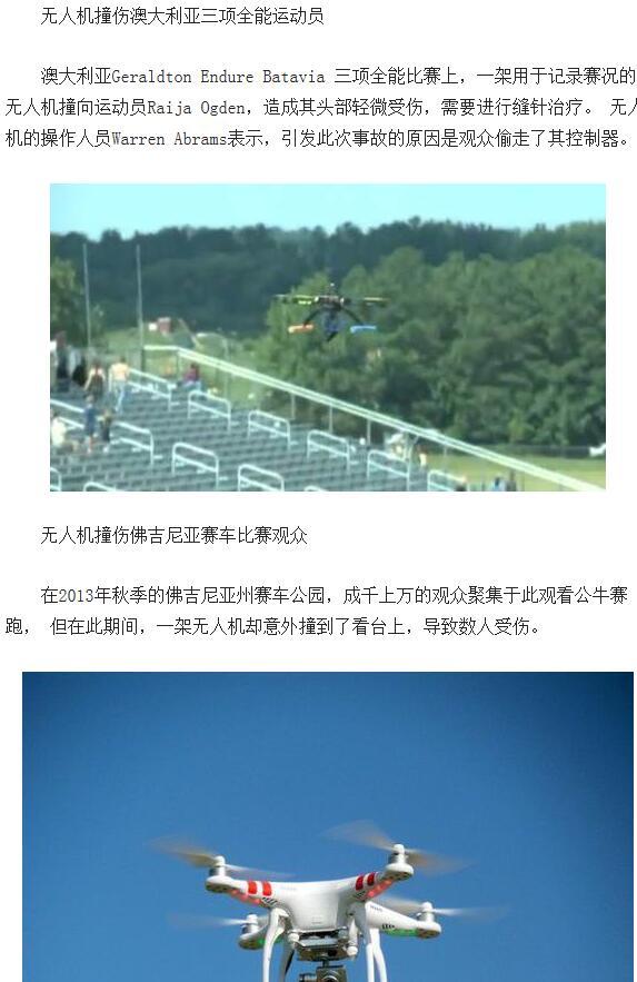 无人机螺旋桨引起的事故