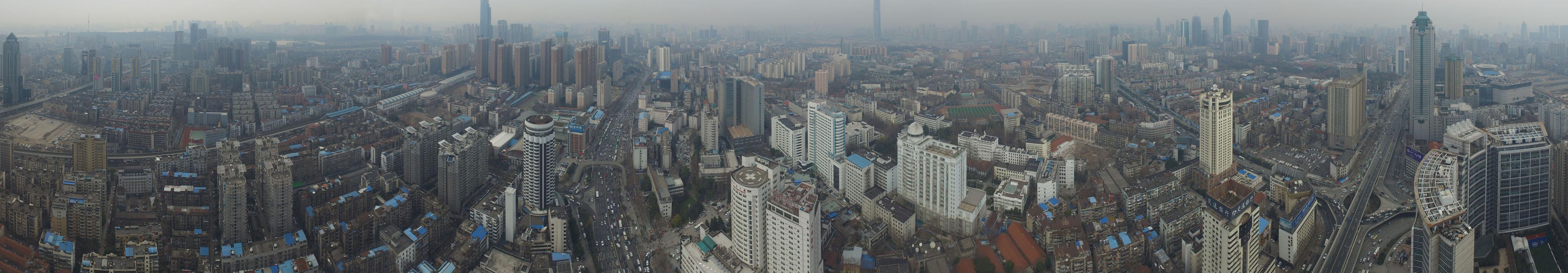 武汉汉口航空路全景