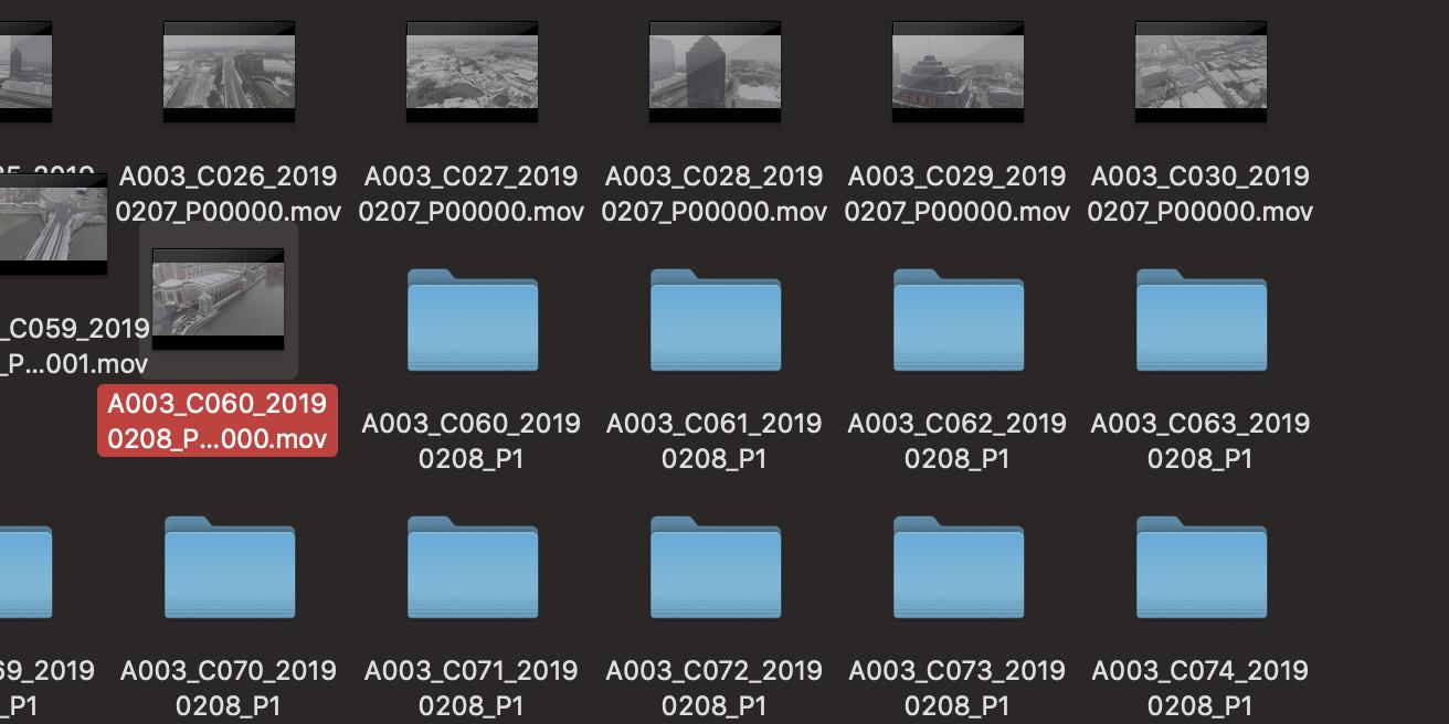 每个视频都会出现个文件夹